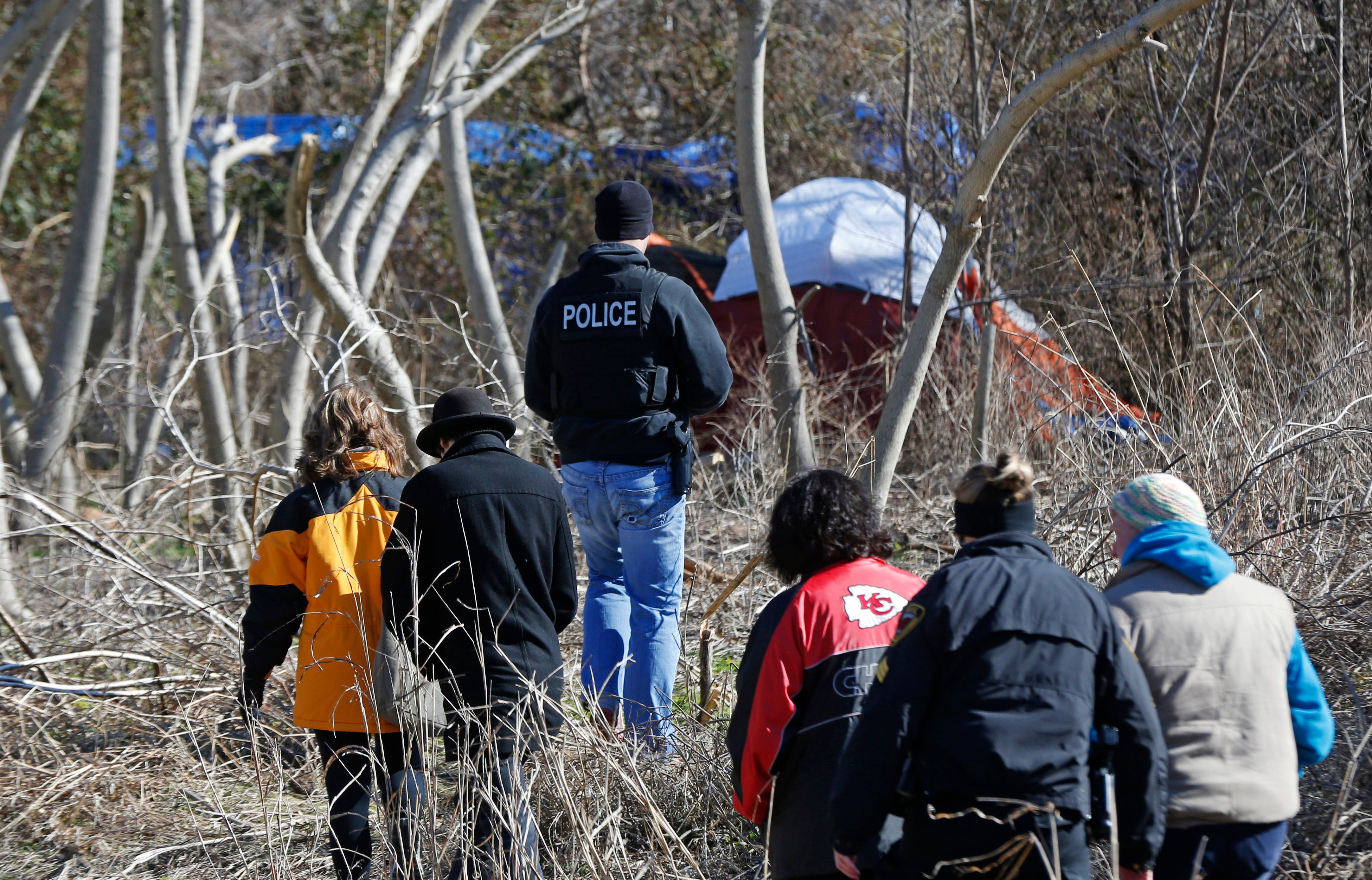 & Homeless told to leave multiple Springfield camps
