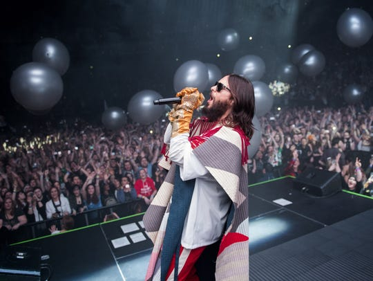 Jared Leto performs with Thirty Seconds to Mars in London last month. The actor/singer formed the band in 1998 in Los Angeles with his brother, Shannon Leto.