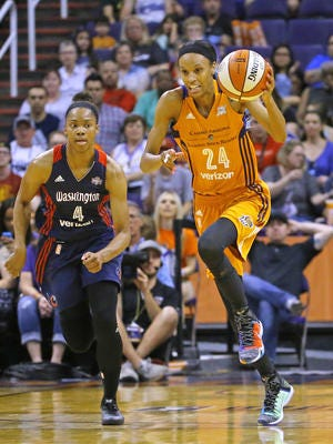 Phoenix Mercury forward DeWanna Bonner had her 25th career double-double Sunday in a win over Washington.