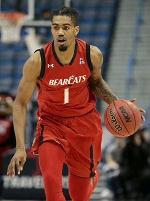 Junior wing Jacob Evans is the University of Cincinnati's top returning scorer for the 2017-18 season, after averaging 13.5 points per game last season.