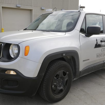 A West Lafayette parking enforcement vehicle is equipped