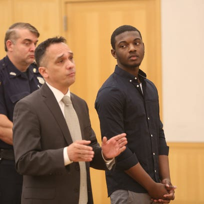Nashaun Hunter, right, appears in Westchester County