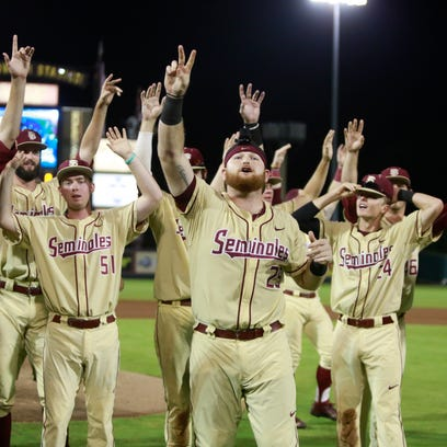 The Noles celebrate after winning the NCAA Tallahassee