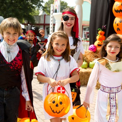 Costumed kids can walk the Trick-Or-Treat Trail at
