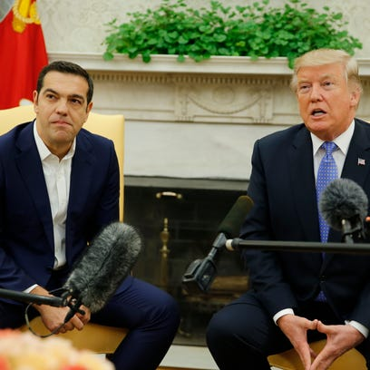 President Trump and Greek Prime Minister Alexis Tsipras.