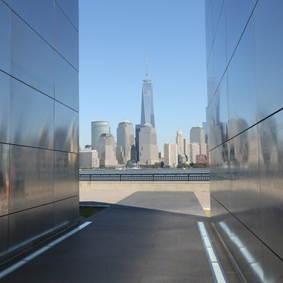 The Freedom Tower as seen from the Empty Sky New Jersey