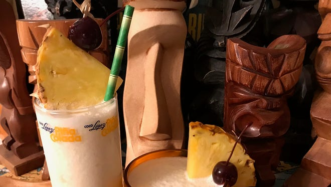 Fresh ingredients make the pina colada a tasty summer party cocktail.
