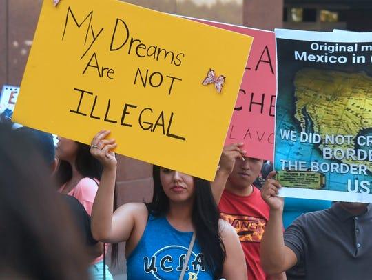 Protesta a favor del DACA.