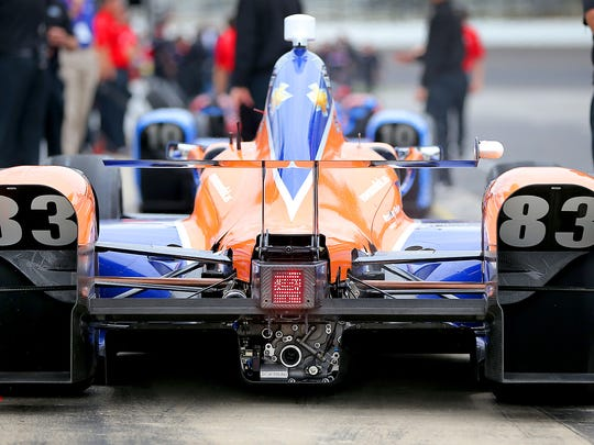 IndyCar series drivers and teams were able to test the new aero kits on the oval May 3, 2015 at the Indianapolis Motor Speedway.