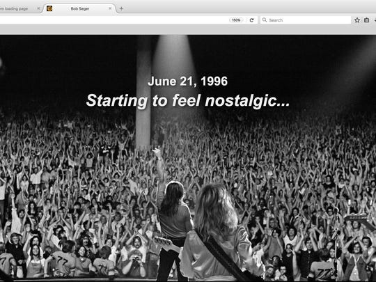 The BobSeger.com home page was updated Monday with