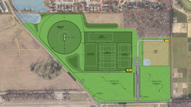 Upgraded spaces for Purdue University's recreational sports including soccer, lacrosse, rugby, cricket and ultimate Frisbee will be located at the northeast corner of McCormick Road and Cherry Lane.