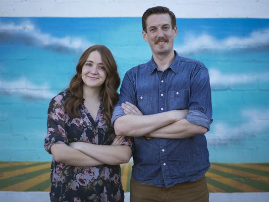 Matt Farrow and Kaylee Nedley, owners of Iconic Cocktail Co.