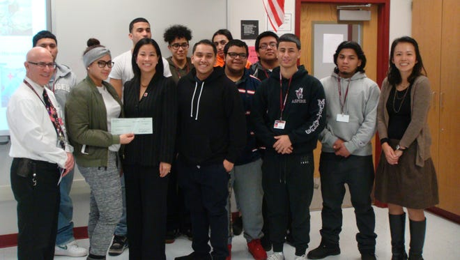 Clifton High School students enrolled in the district's Aspire program presented the American Red Cross Blood Services Division with more than $2,000 collected during a fundraising effort spearheaded by the class.