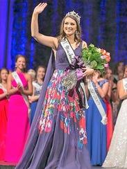 Passing Her Crown - Becca Lax, 2016 Miss Vanderburgh