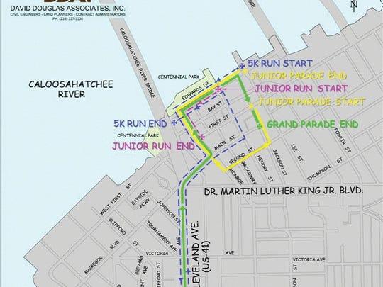 2018 Edison Parade route