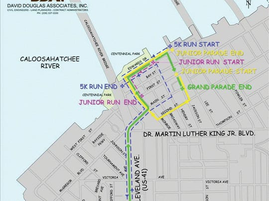 2018 Edison Parade route