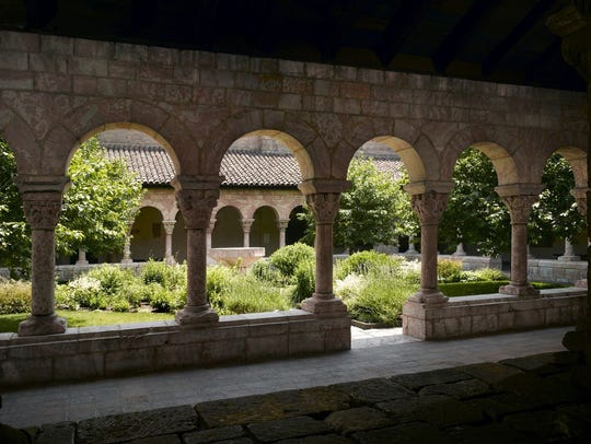 The Cuxa Cloister, modeled after a section of a medieval