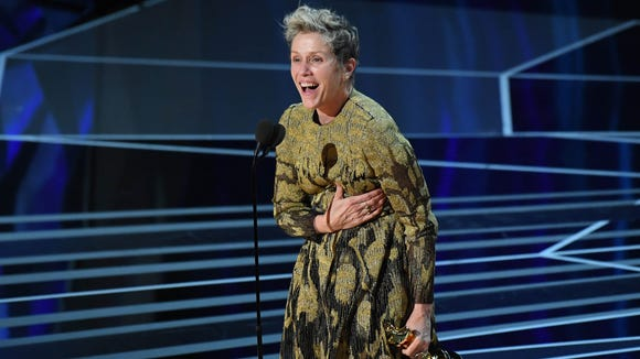 Frances McDormand had the audience on their feet with her rousing acceptance speech for best actress for 'Three Billboards Outside Ebbing, Missouri.'