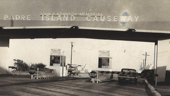 The toll gate to the JFK Causeway in October 1967. The last toll was collected on Oct. 31, 1967.
