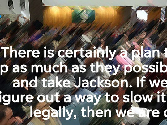 Quote from an email to Jackson officials about the