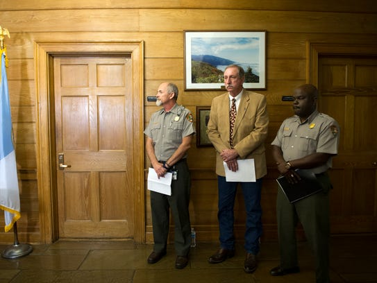 """From left William """"Bill"""" Kaage of the National Park"""