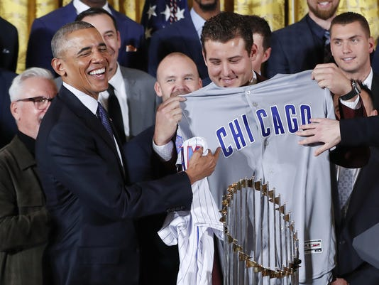 Barack Obama,Anthony Rizzo