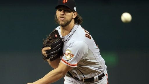 Madison Bumgarner led the Giants to a win over the Royals in Game 1 of the World Series.
