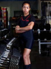 13-year-old Parsippany powerlifter Diana Yturbe training at Whippany Athletic Club. Yturbe is breaking national records in her age group while maintaining a straight-A average in school. February 22, 2018. Whippany, NJ.