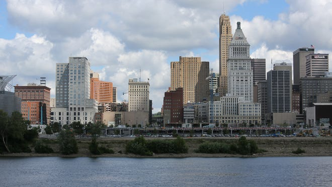 city skyline July 16, 2014 A view of the Cincinnati city skyline.
