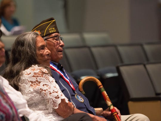 Simon Mendoza, a 94-year-old World War II veteran who