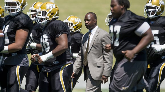 Alabama State head coach Brian Jenkins during the Black