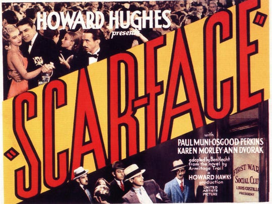 "Howard Hughes 1932 film ""Scarface"" set a new standard for on-screen violence."