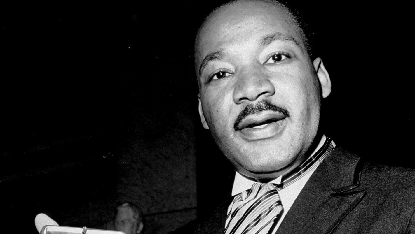 martin luther king's policy of peaceful Having won our independence in a nonviolent struggle, indians join americans in celebrating the rev martin luther king jr's leadership of the civil.