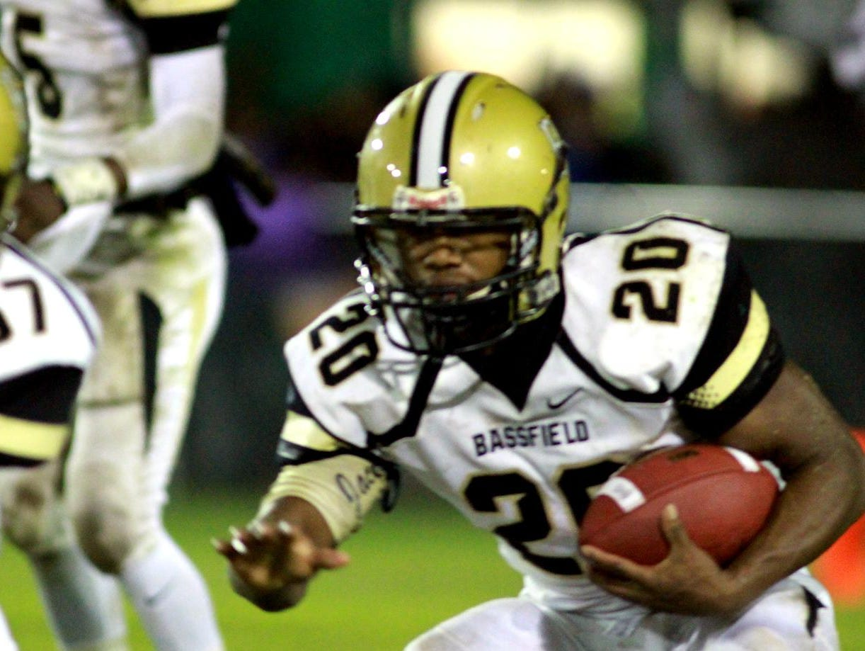 Bassfield running back Rashaud Green carries the ball during a game earlier this season.