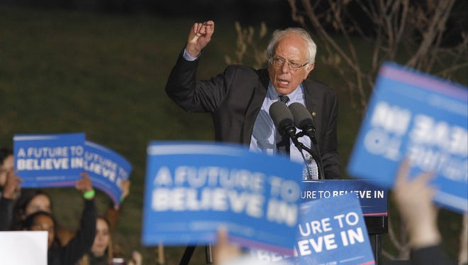 Sen. Bernie Sanders of Vermont is trailing Hillary Clinton in the Democratic presidential primary race as the campaigns head into New York.