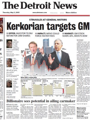 The front page of The Detroit News on May 5, 2006.