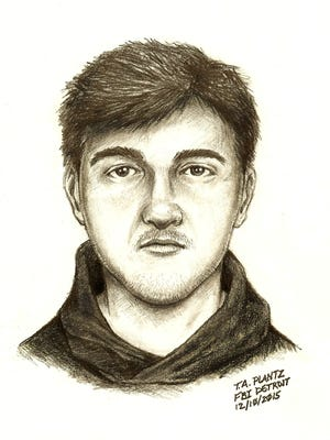 Meridian Township police released this sketch late Thursday evening. Police said the suspect followed a woman into her apartment, but fled after her roommate came home.