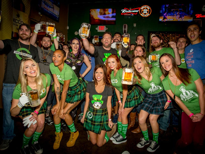 Partygoers at the official KCCO Gold Launch Party in Houston.