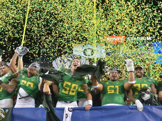 Oregon left no doubt in the Pac-12 championship game,