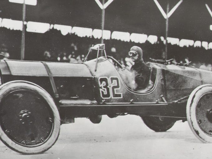 Ray Harroun's bright yellow Marmon Wasp was the only single-seater in the 1911 Indianapolis 500.  All other cars carried a driver and a riding mechanic.