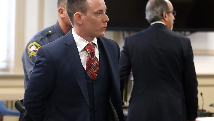 Philip Johnson, is taken to Morris County Jail after he was sentenced in Morris County Superior Court after admitting to secretly filming women while having sex with them at his Mount Olive apartment. March 24, 2017, Morristown, NJ