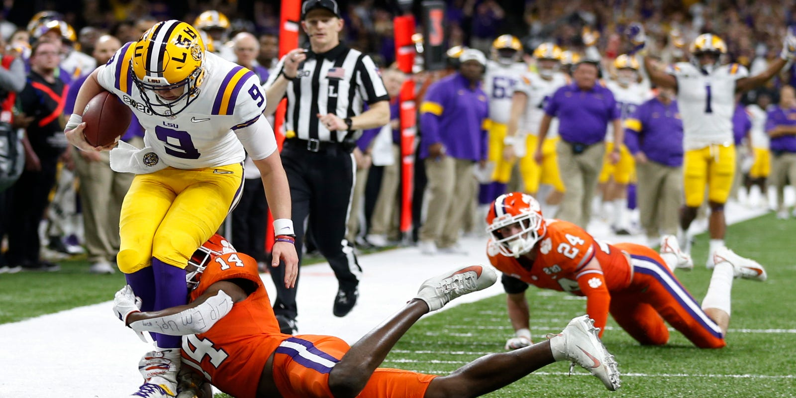 super quality 50% price release info on LSU Tigers defeat Clemson 42-25 in college football championship