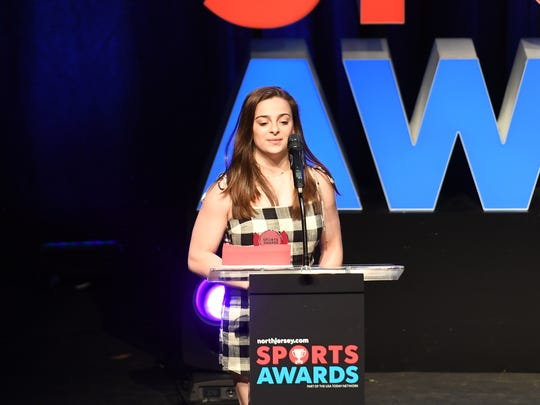 Northjersey.com Sports Awards at the Bergen Performing Arts Center on Thursday, June 14, 2018. Gymnast of the Year Faith Furletti of Holy Angels.