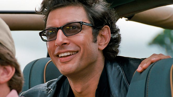 """Jeff Goldblum in a scene from the motion picture """"Jurassic Park in 3D. CREDIT: Universal City Studios & Amblin Entertainment""""  [Via MerlinFTP Drop]"""