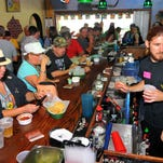 Crowds pack the bar for Cinco de Mayo held Tuesday night at Cantina Dos Amigos in Indialantic.