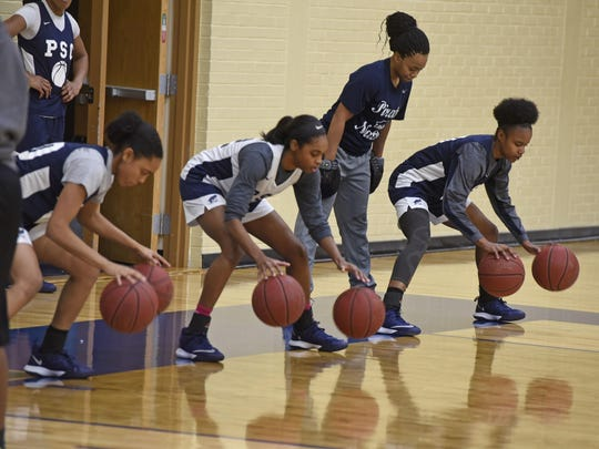 The Pensacola State Lady Pirates practice Saturday, December 30, 2017 at PSC's Ed Hartsell Arena.