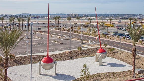"""Christian Moeller's """"MetroGnomes,"""" made from steel,"""