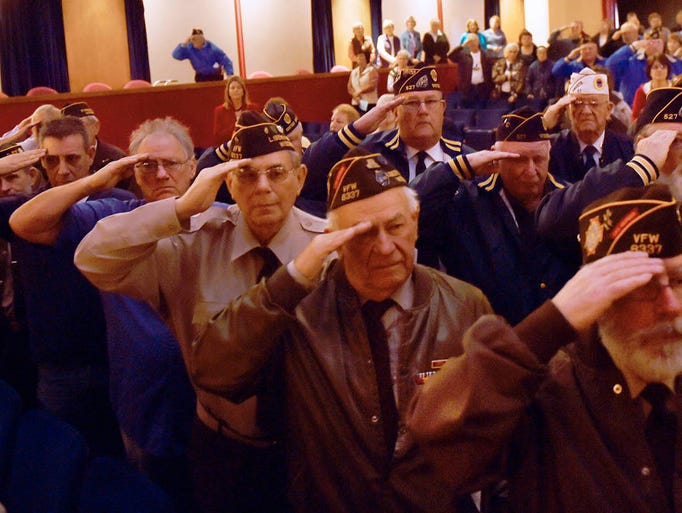 About 75 veterans attended the Veterans Ceremony on
