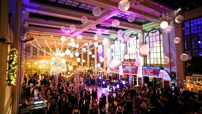 The Asbury Park Boardwalk's New Year's Eve ball, pictured at Convention Hall.