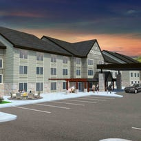 An artist's rendition of the Country Inn & Suites by Carlson St. Cloud-West exterior. General Manager Jackie Klehr said the project will be finished by spring.